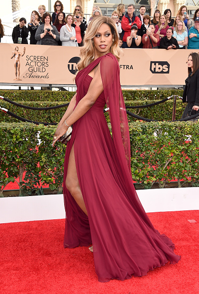 LOS ANGELES, CA - JANUARY 30: Actresses Laverne Cox attends the 22nd Annual Screen Actors Guild Awards at The Shrine Auditorium on January 30, 2016 in Los Angeles, California. (Photo by Steve Granitz/WireImage)