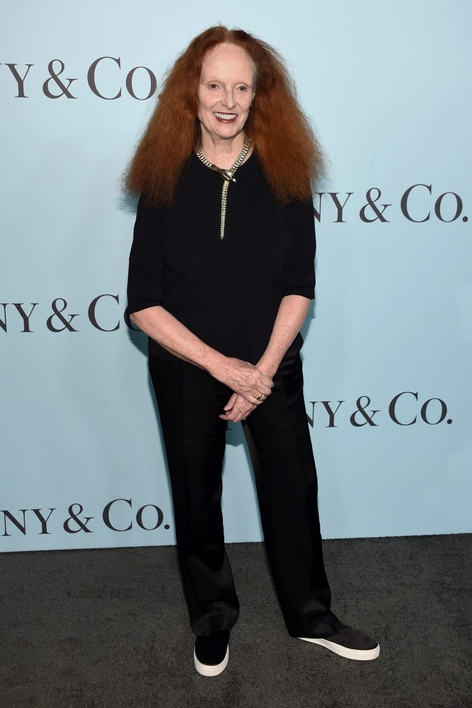 """NEW YORK, NY - APRIL 15: Grace Coddington attends the Tiffany & Co. Blue Book Gala at The Cunard Building on April 15, 2016 in New York City. (Photo by Dimitrios Kambouris/Getty Images)"""