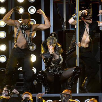 Nicki Minaj wearing on aura tout vu harness During BBMAs
