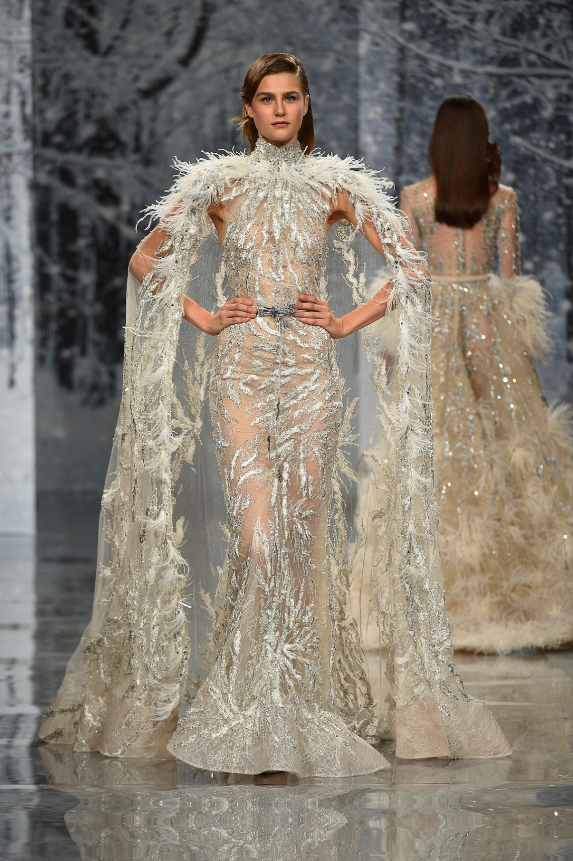Ziad nakad couture fall winter 2017 18 fashion insider for Couture a fronce
