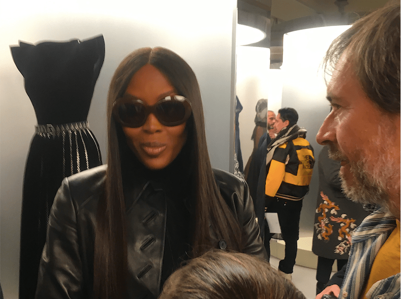 Supermodel Naomi Campbell at the tribute to honor Azzedine Alaïa in Paris (Sunday, January 21, 2018).