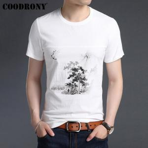 COODRONY 2019 Summer Chinese Style Painting T Shirt Men Soft Cotton Linen Short Sleeve T-Shirt Men O-Neck Tee Shirt Homme S95030 - thefashionique