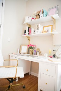 How To Make A Small Office Space Work! | The Fashionista's ...