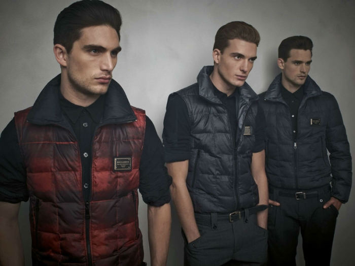 dgcollection2 Arthur Kulkov, Sam Webb, Antonio Navas & Julien Quevenne by Mariano Vivanco for Dolce & Gabbana Fall 2011