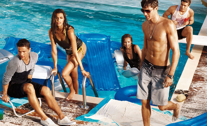 1 Antonio Navas, Caleb Halstead & Julian Schratter by Matthew Scrivens for Armani Exchange Summer 2011 Style Splash Campaign