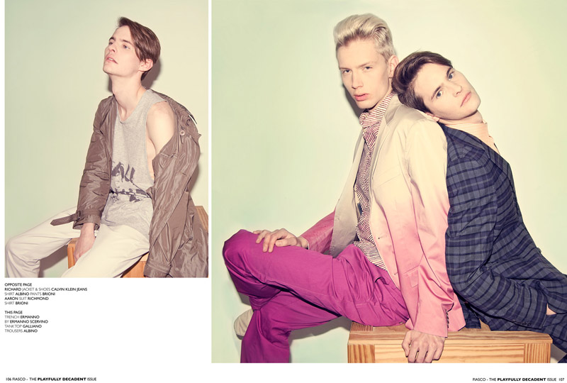 5 Aaron Wigley, Janice Fronimakis & Richard Kranzin by Ivan Muselli for <em>Fiasco</em>