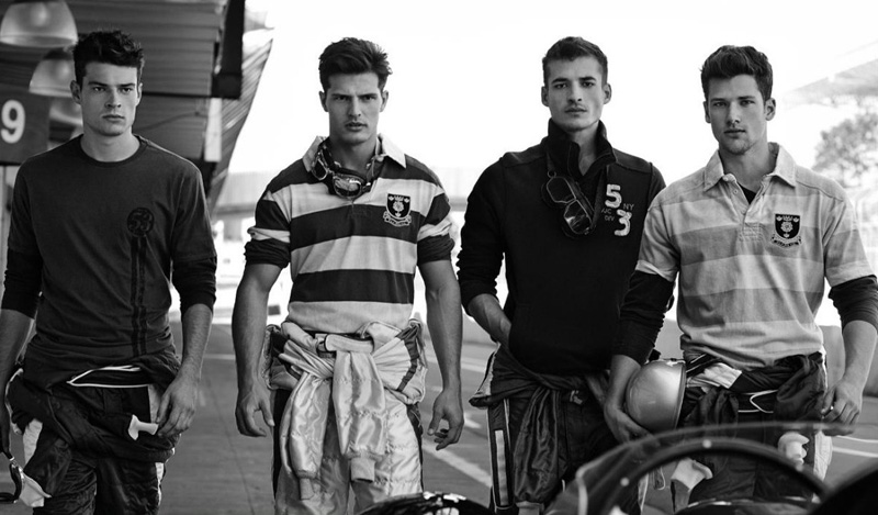4 Arthur Sales, Diego Miguel, Jean Carlos &  Jordão Altmann by Cristiano Madureira for Vila Romana Fall 2011 Campaign