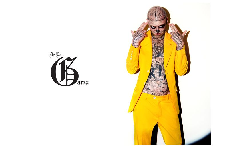 Rick Genest by Mikolaj Jazwiecki for De La Garza Summer 2011