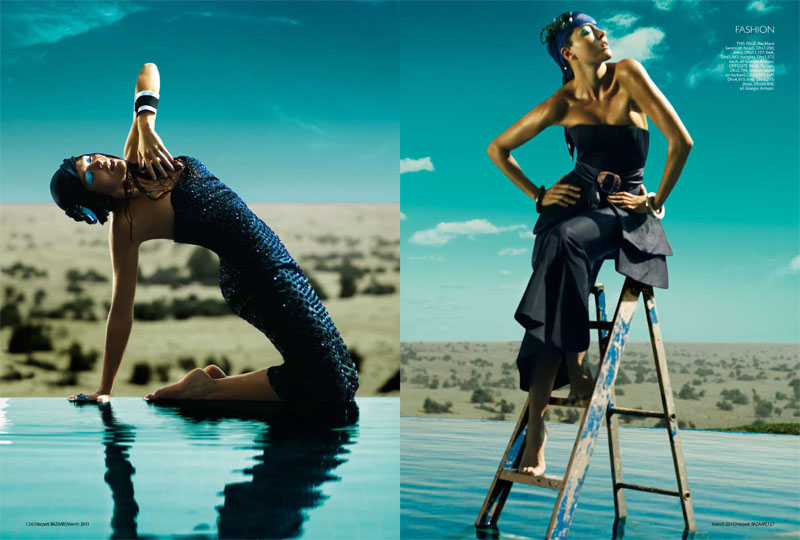 armani3 Vanessa in Giorgio Armani for <em>Harpers Bazaar Arabia</em> April 2011