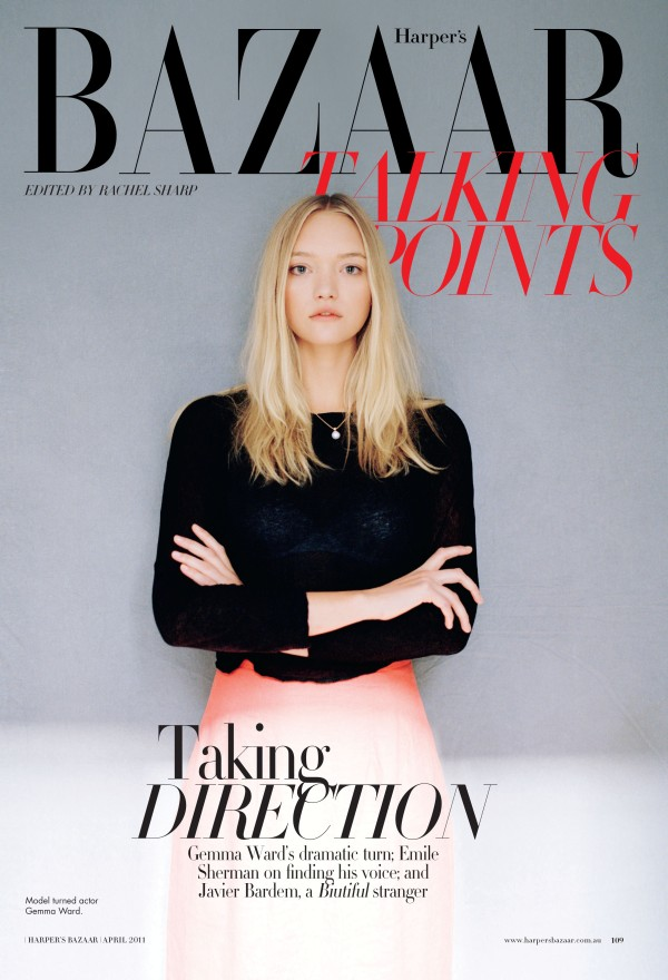 gemma Snap! | Gemma Ward by Peter Ash Lee for <em>Harpers Bazaar Australia</em>