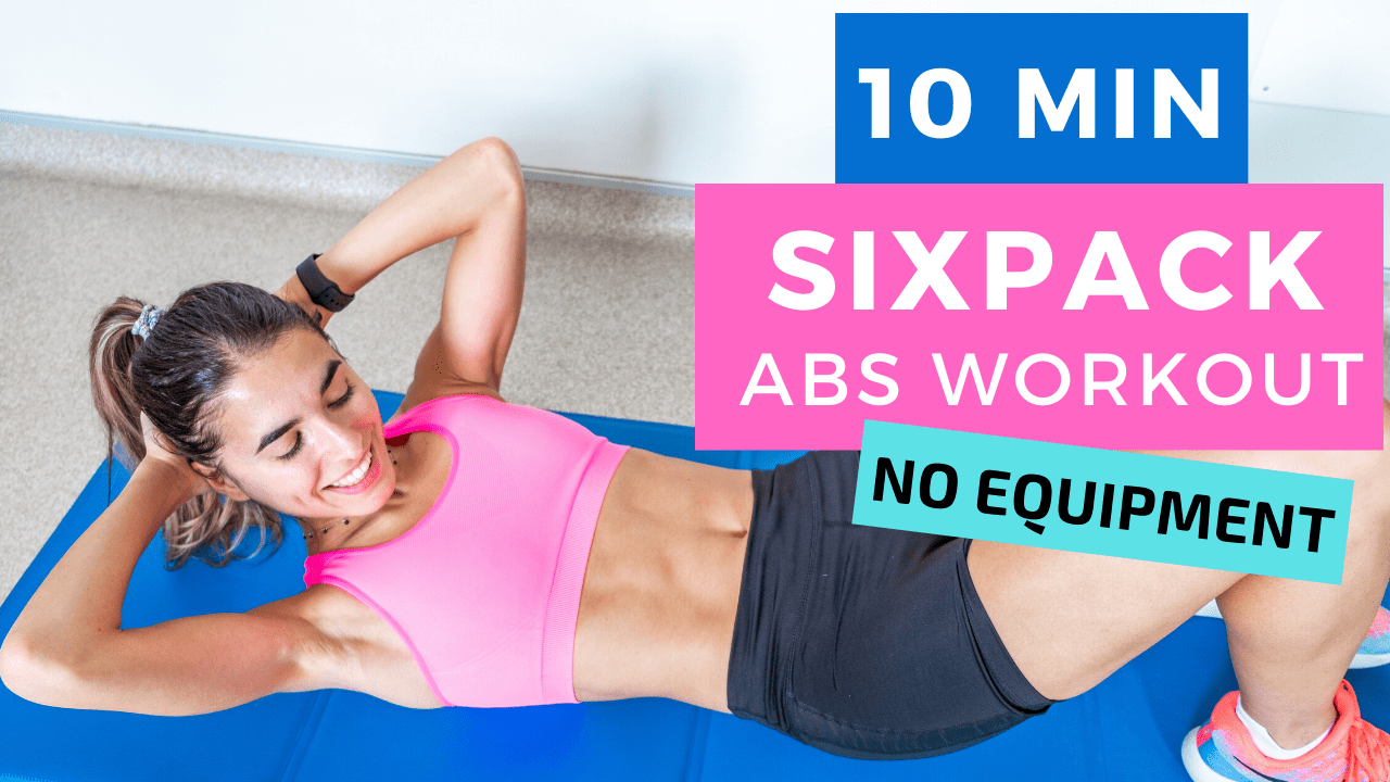 10 MIN SIXPACK ABS WORKOUT AT HOME - no equipment | The Fashion Jogger