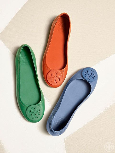 Tiny mirrors, rivets and geometric cut-outs transform Tory Burch Kingsbridge Ballet Flat from simple to standout