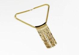Vintage Chain Tassel Necklace - $84.00