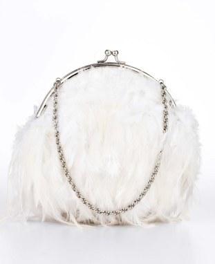 Ann Taylor Feathered Bag - $142.09 CAD