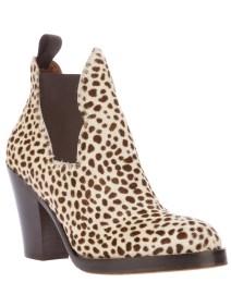 ACNE 'Star' leopard print boot