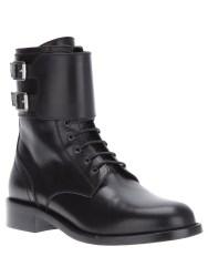 SAINT LAURENT mid calf boot