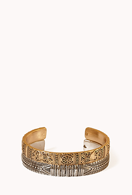 Forever21 Etched Metal Cuff Set