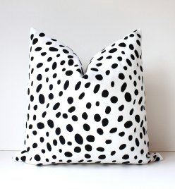Spotted Black & White Pillow Cover