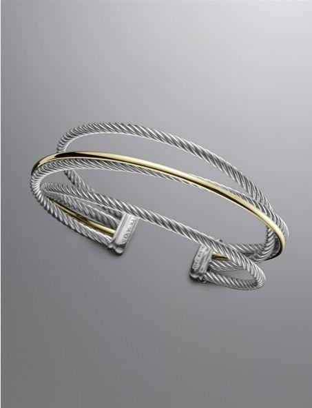 David Yurman 3mm Crossover Bracelet