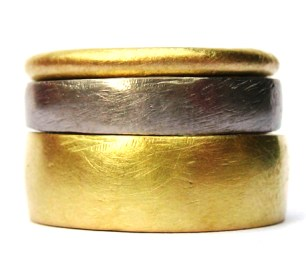 Katherine Bowman Round Wedder, Promise, and Prosperity Rings