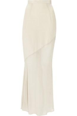 Kain Maren washed-silk and chiffon maxi skirt
