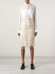 SIMONE ROCHA layered knitted pencil skirt