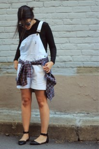 White Dungarees | The Fashion Medley