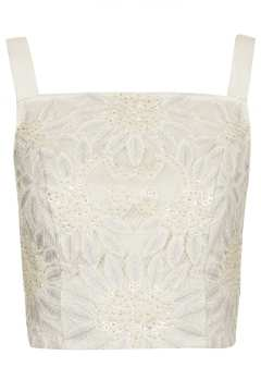 TOPSHOP Embellished Lace Pinny Top