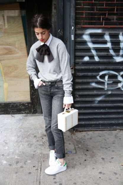 leandra medine white sneakers