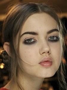 black lower eyeshadow