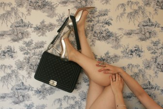 Zara silver court shoes, Chanel Le Boy and Cartier Love bracelet