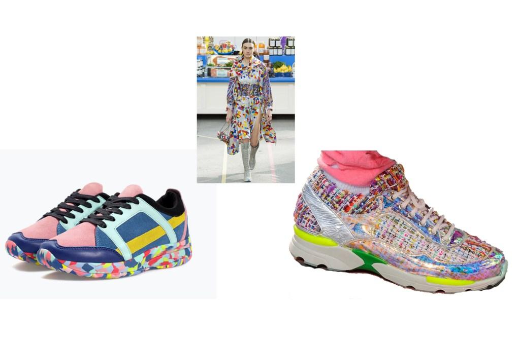 Chanel vs Zara trainers