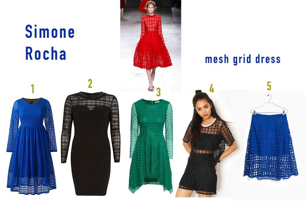 Simone Rocha mesh grid dress
