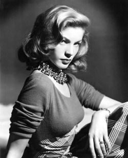 Lauren Bacall in 1945, Photo; Rex