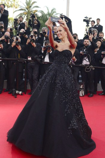 Petra Nemcova on last year's Cannes red carpet. Image courtesy of Rex Images