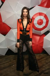 Emily Ratajkowski at the Target for Breast Cancer party kicking off New York Fashion Week.