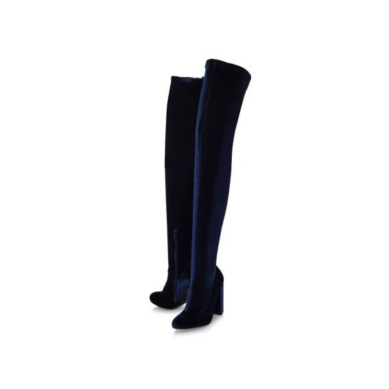 Kurt Geiger Wolf velvet over the knee boots, £210