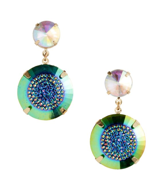H&M coloured drop earrings, £3.99