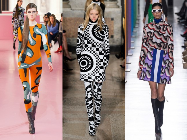 Left to right: Christian Dior, Emilio Pucci and Jonathan Saunders