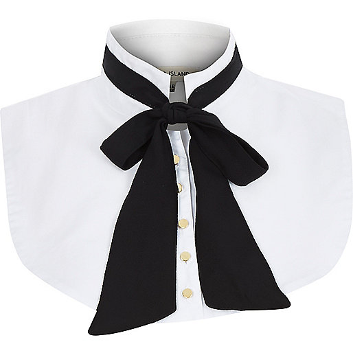 River Island mock bow collar, £12