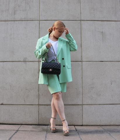Mint Shorts Suit