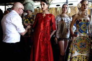Designs from the Dolce & Gabbana presentation in Capri