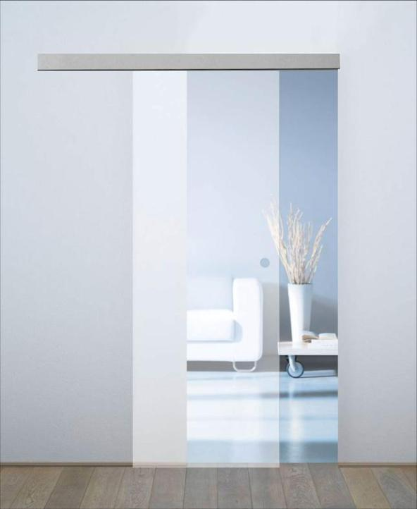 The Leroy Merlin doors are from the 'Orlando' series and features frosted sliding doors with glass panels leroymerlin.it