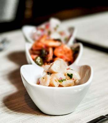 Trio of Ceviches (Octopus, Shrimp and Tilapia), Alma Restaurant