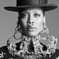 Erykah Badu styles the 2016 Pyer Moss show at New York Fashion Week