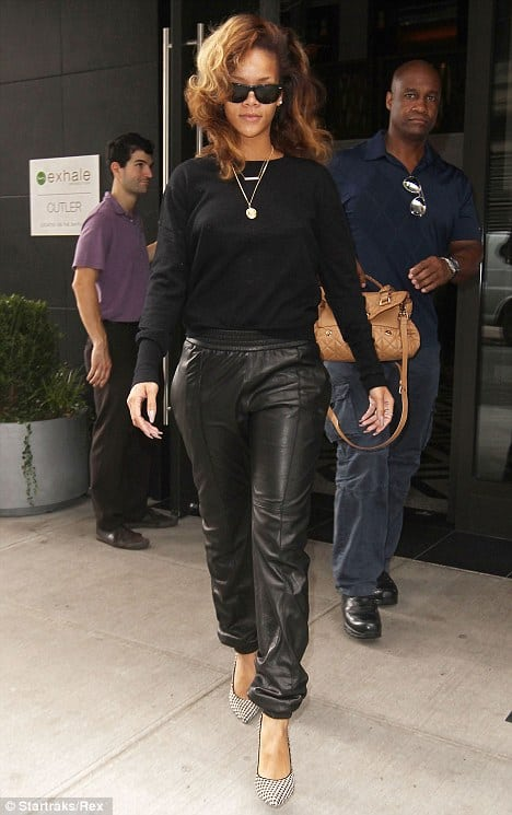 rihanna-leather-sweatpants