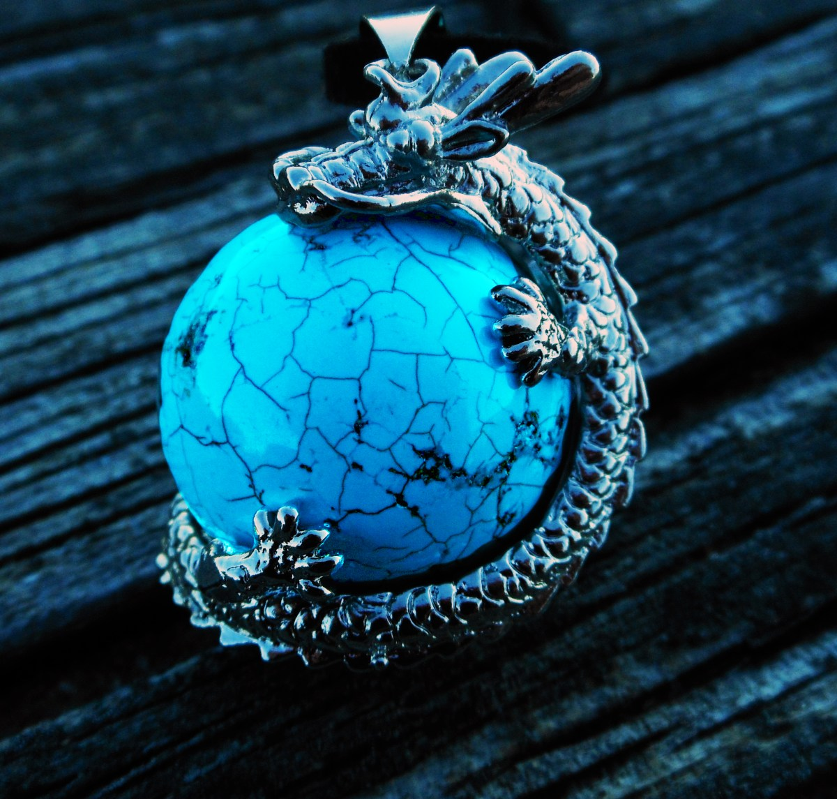 Turquoise Dragon pendantcrosscultures FashionTag