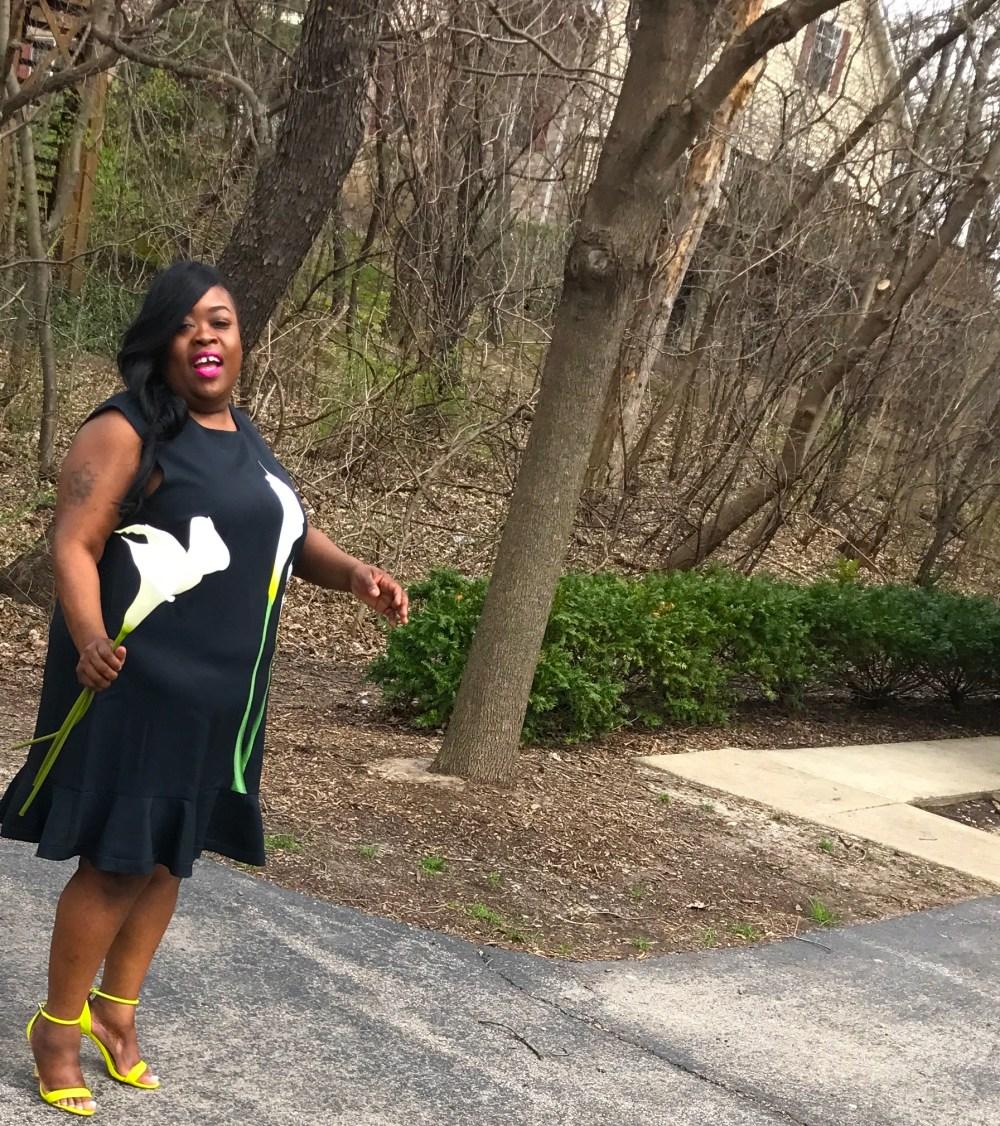 VBxTarget Daisy Drop Waist Scallop Trim Dress 1