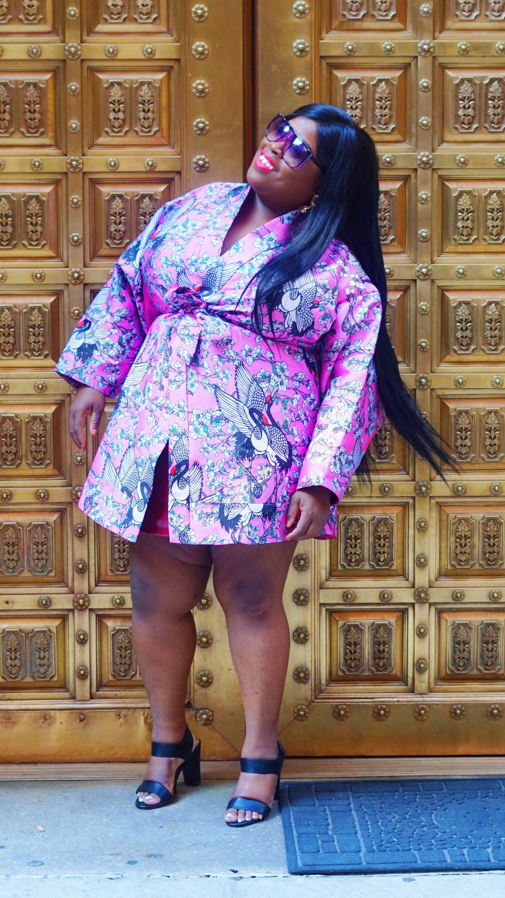 ASOS Kimono in Cherry Blossom Jacquard