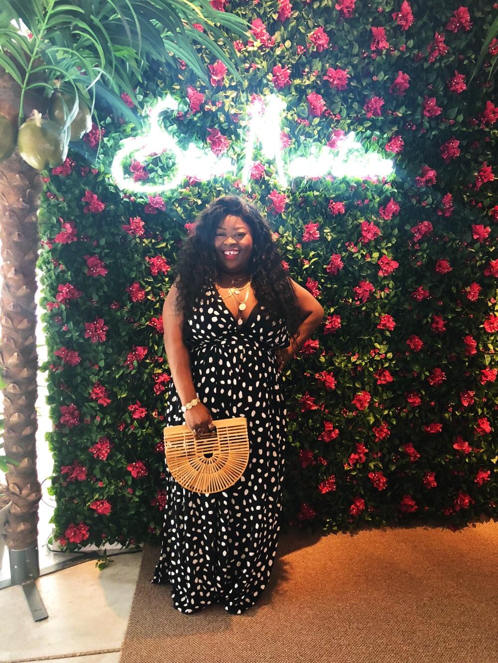 SheaMoisture's New Orleans pop-up shop, plus size polka dot dress, SheaMoisture, New Orleans